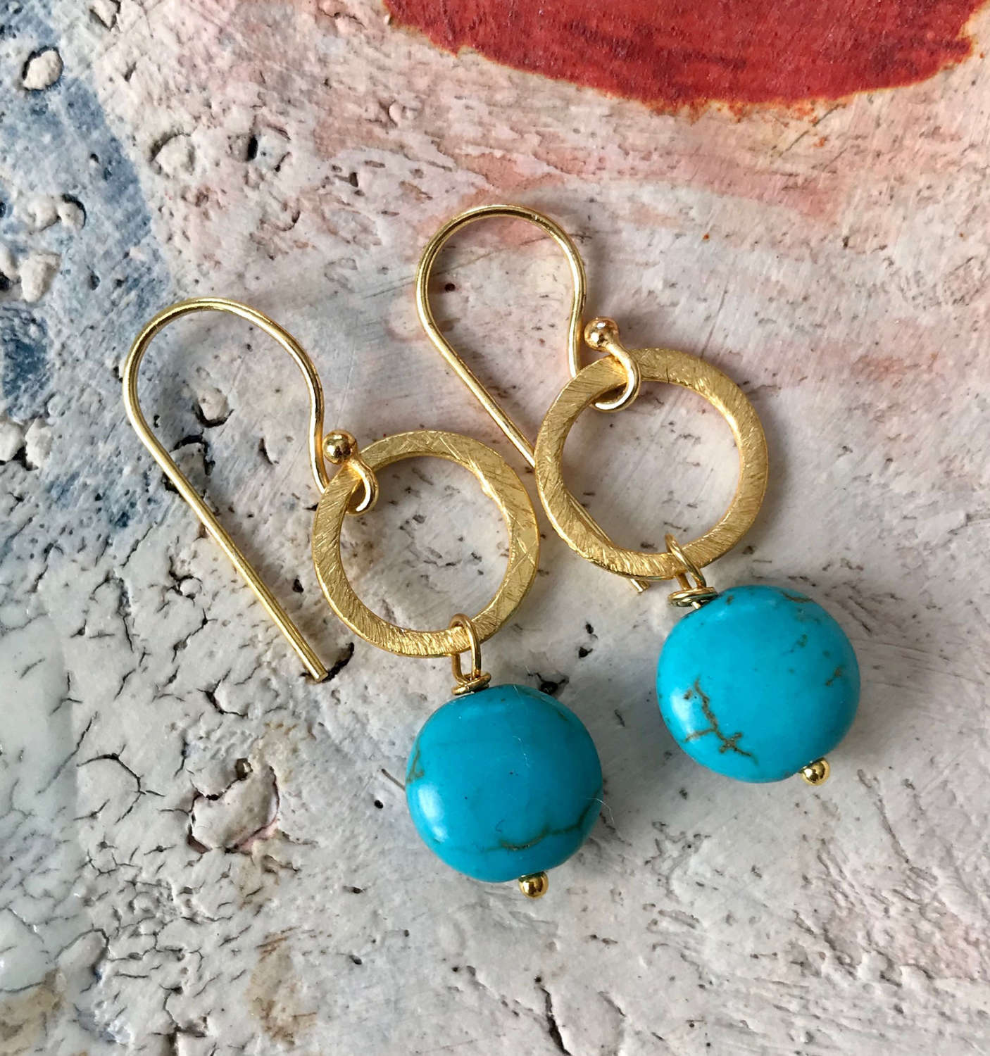 Lydia earrings turquoise/gold