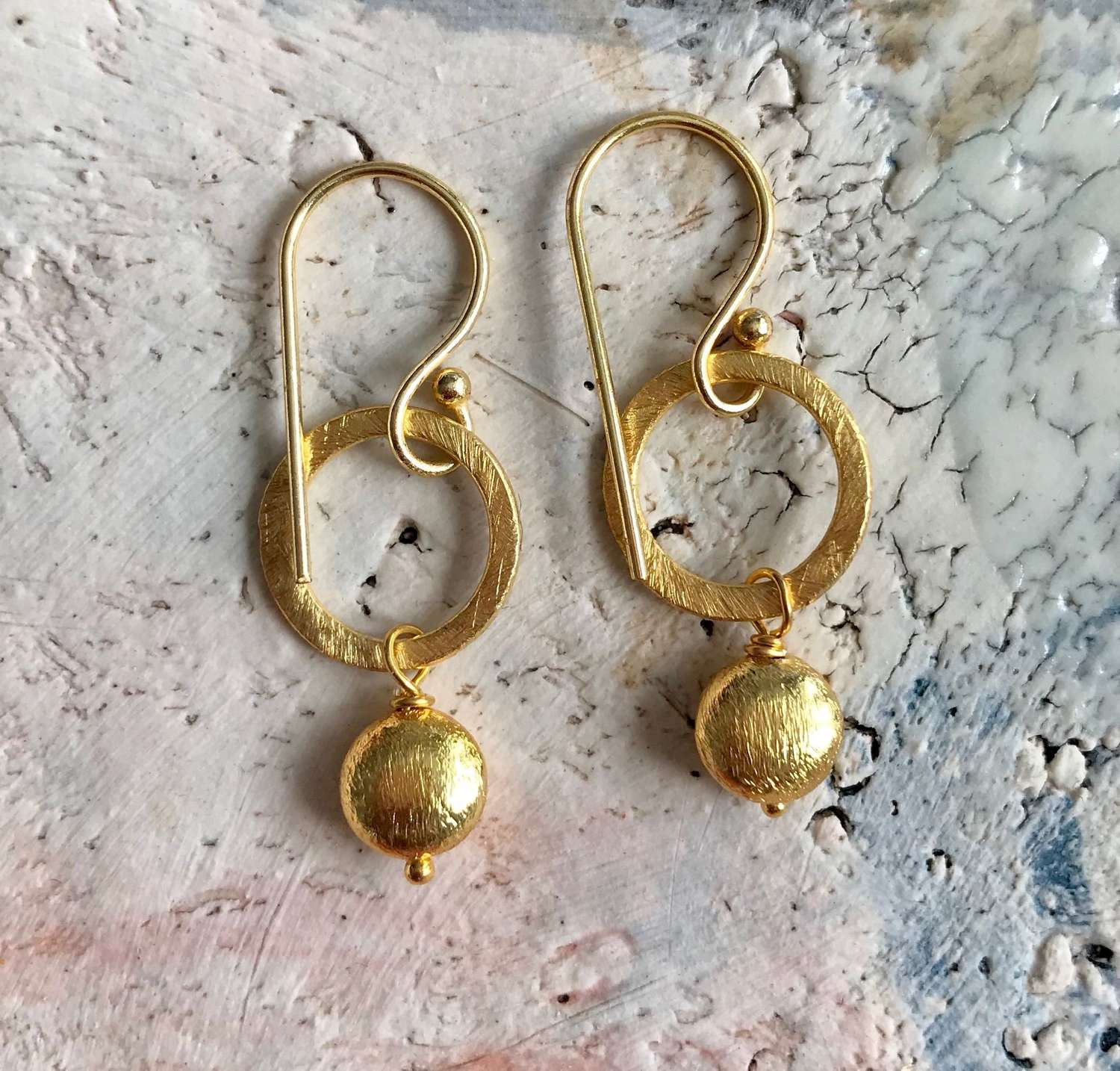 Lydia gold nugget earrings