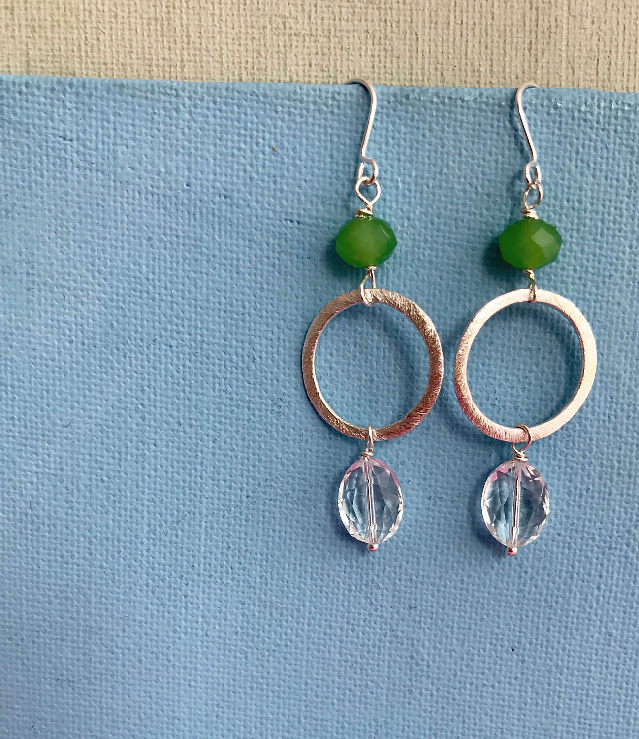 Lottie small earrings green