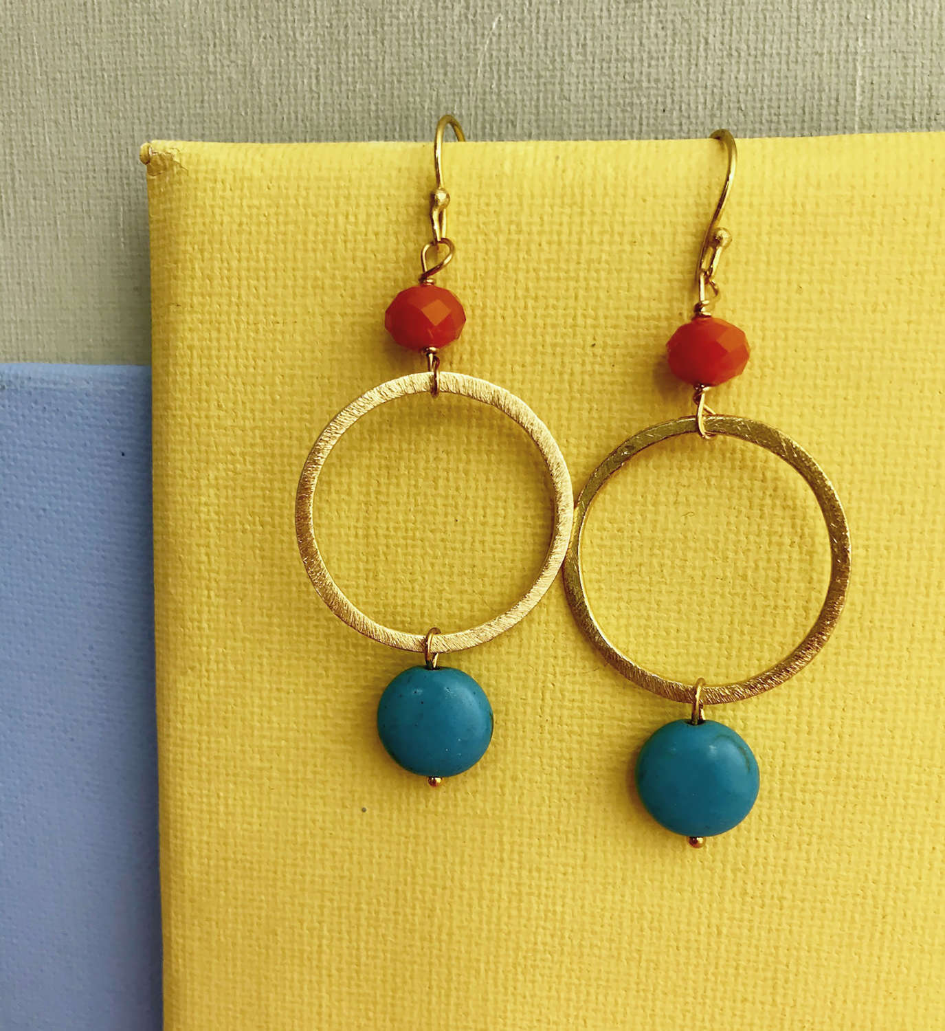 Lottie earrings orange/turquoise