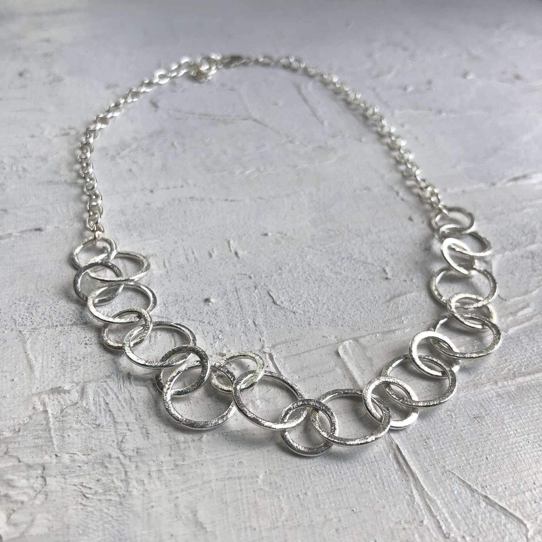 Claudia simple necklace silver