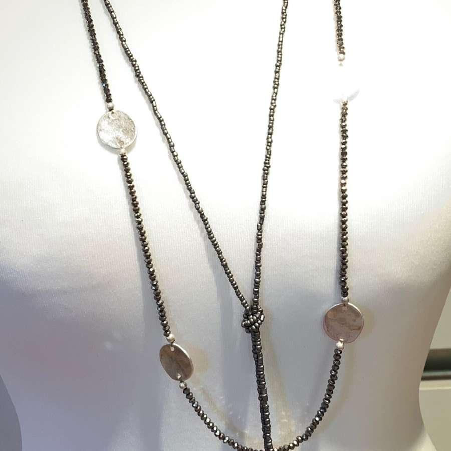 Sparkle disc necklace