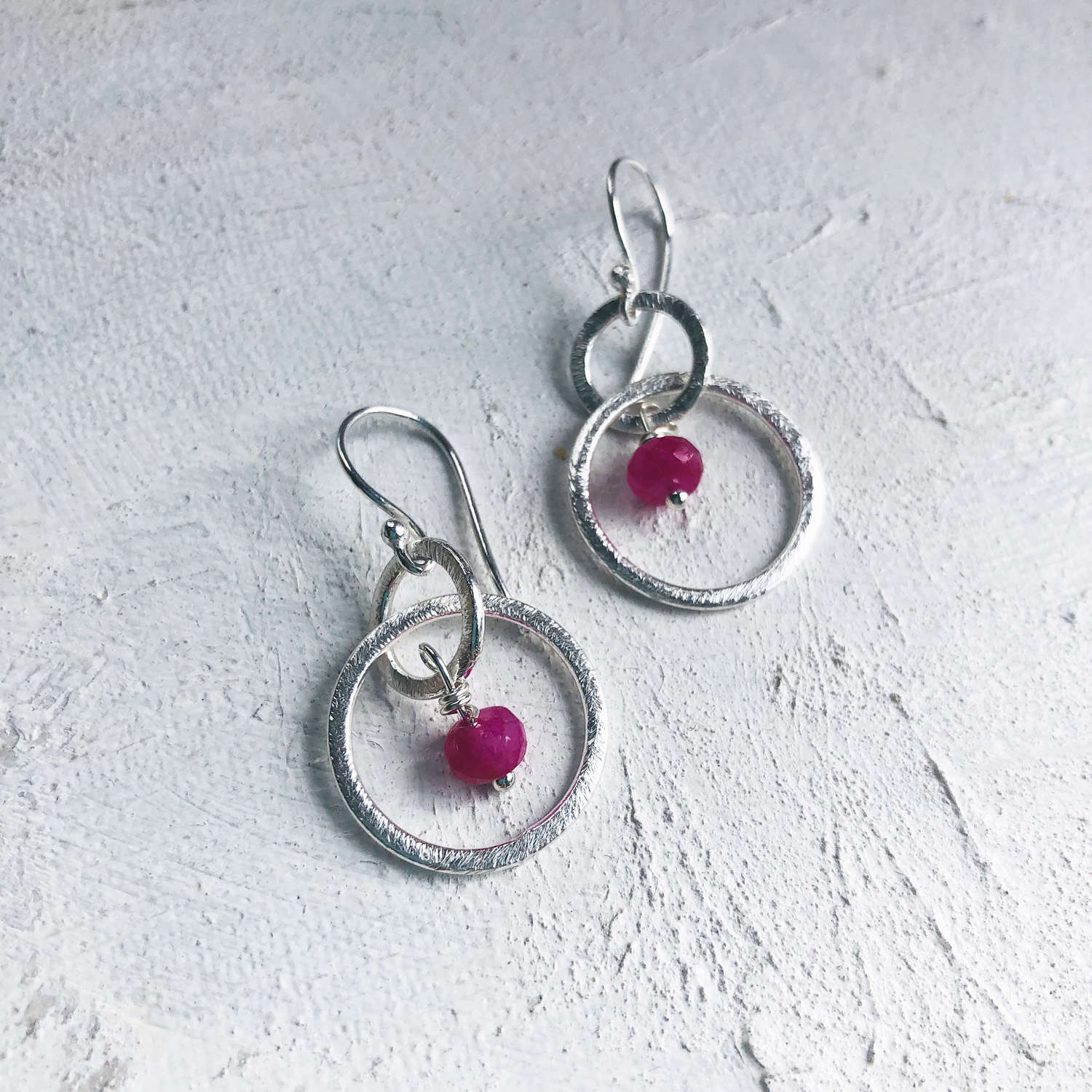 Lesley earrings pink/silver
