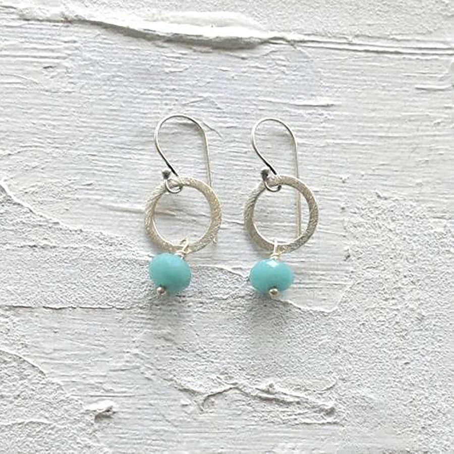 Lydia earrings-silver-duck egg