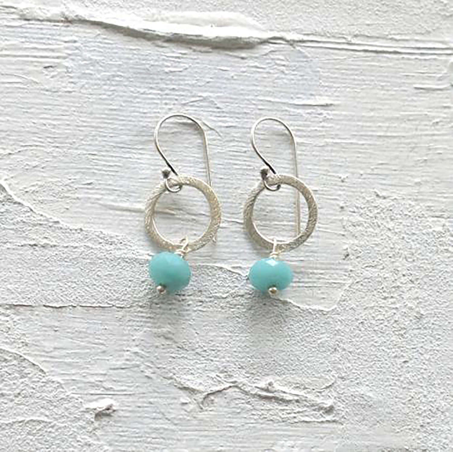 Lydia earrings-silver-duck egg