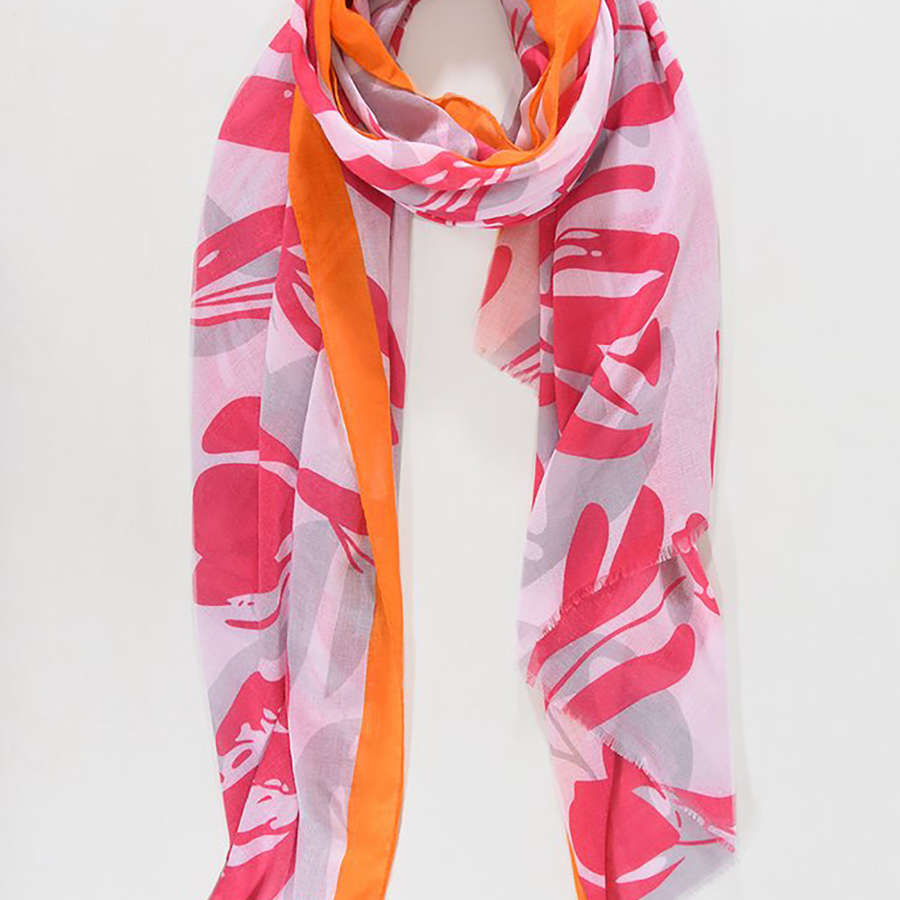 Fuchsia and orange scarf
