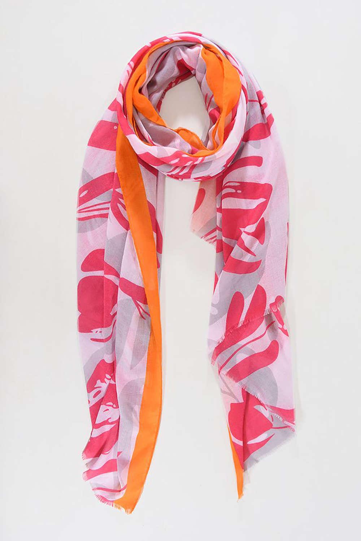 Fuchsia and orange scarf