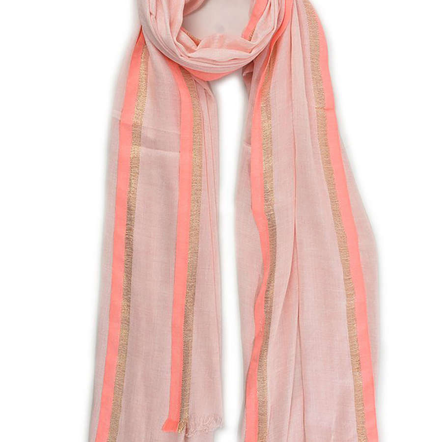 Neon pink and gold scarf