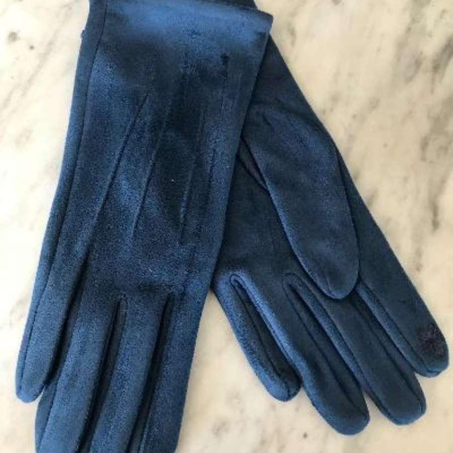 Teal blue gloves