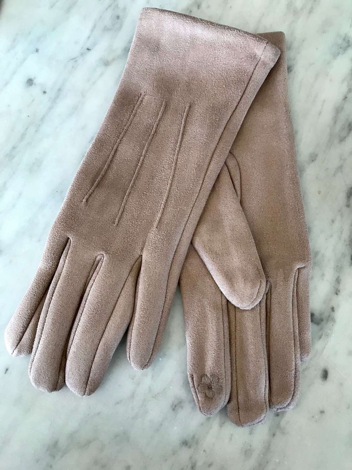 Taupe gloves
