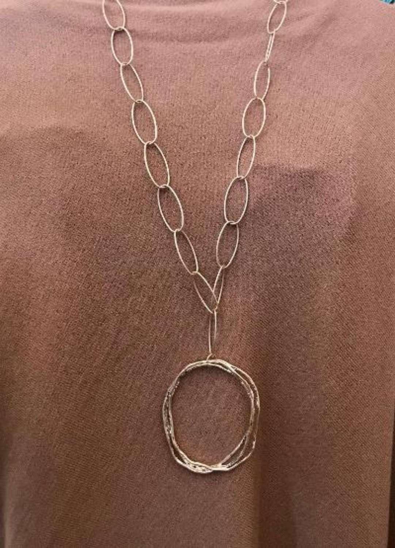 Long loop necklace - silver
