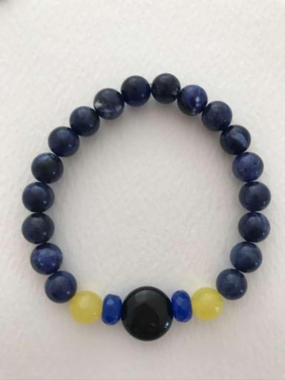 Annie bracelet - navy yellow