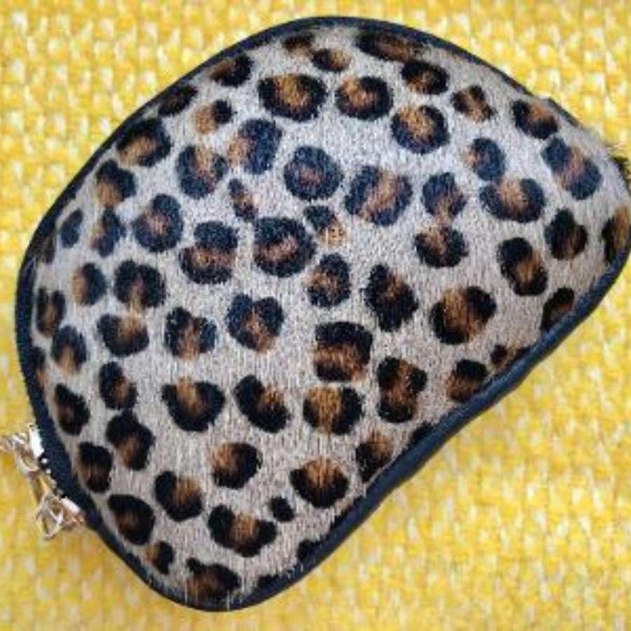 Leather animal print purse - leopard