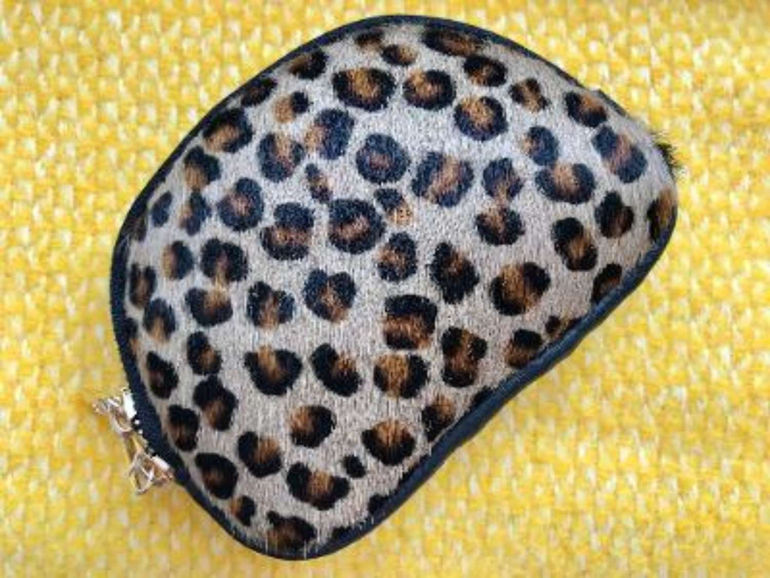 Leather animal print purse - leopard