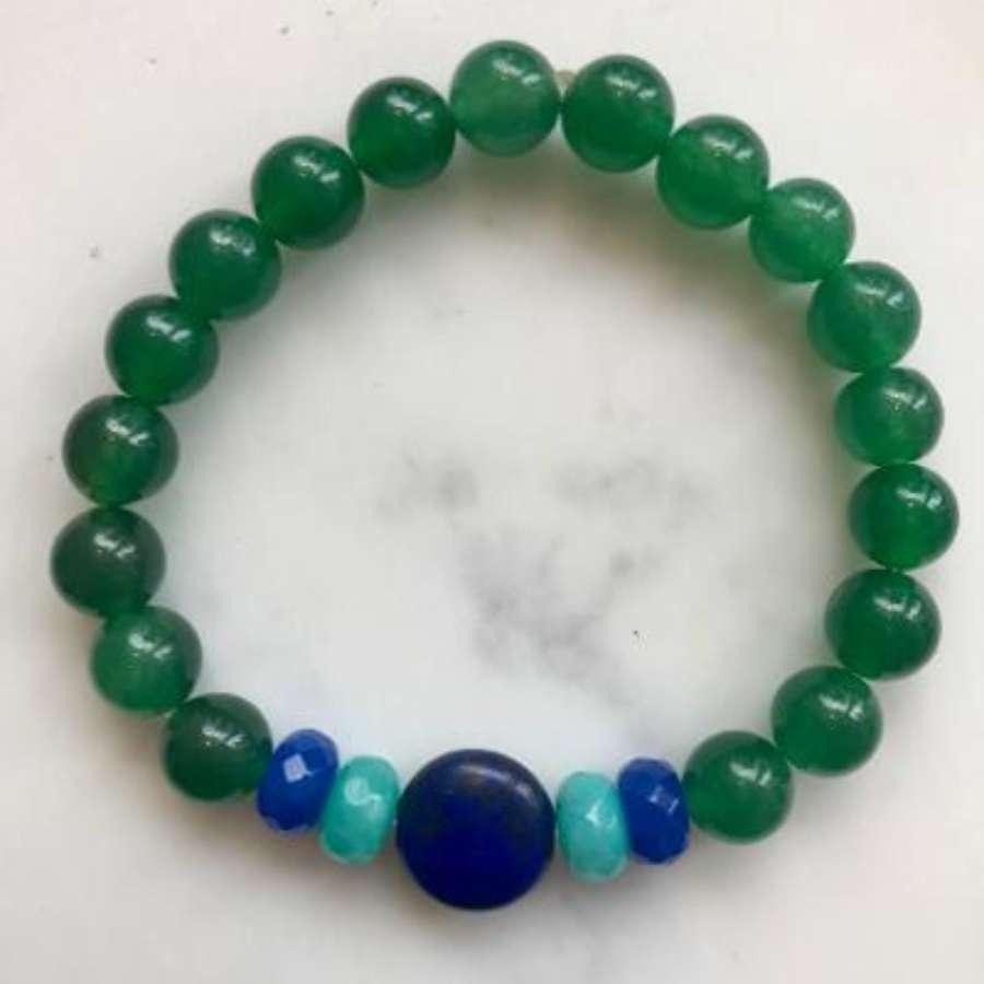 Annie bracelet - emerald and blues