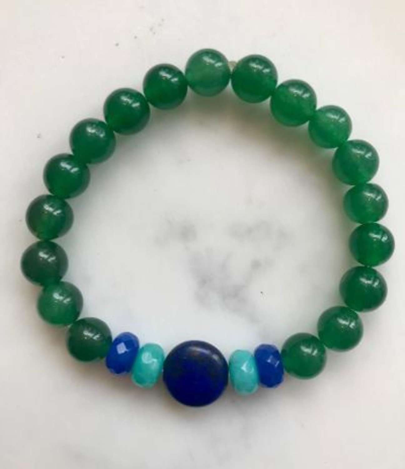 Annie bracelet - emerald and blues
