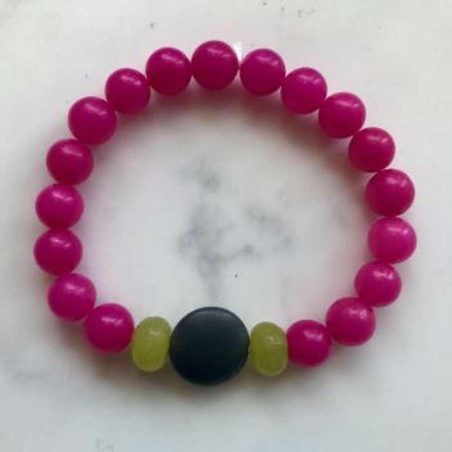 Annie bracelet fuchsia/lime