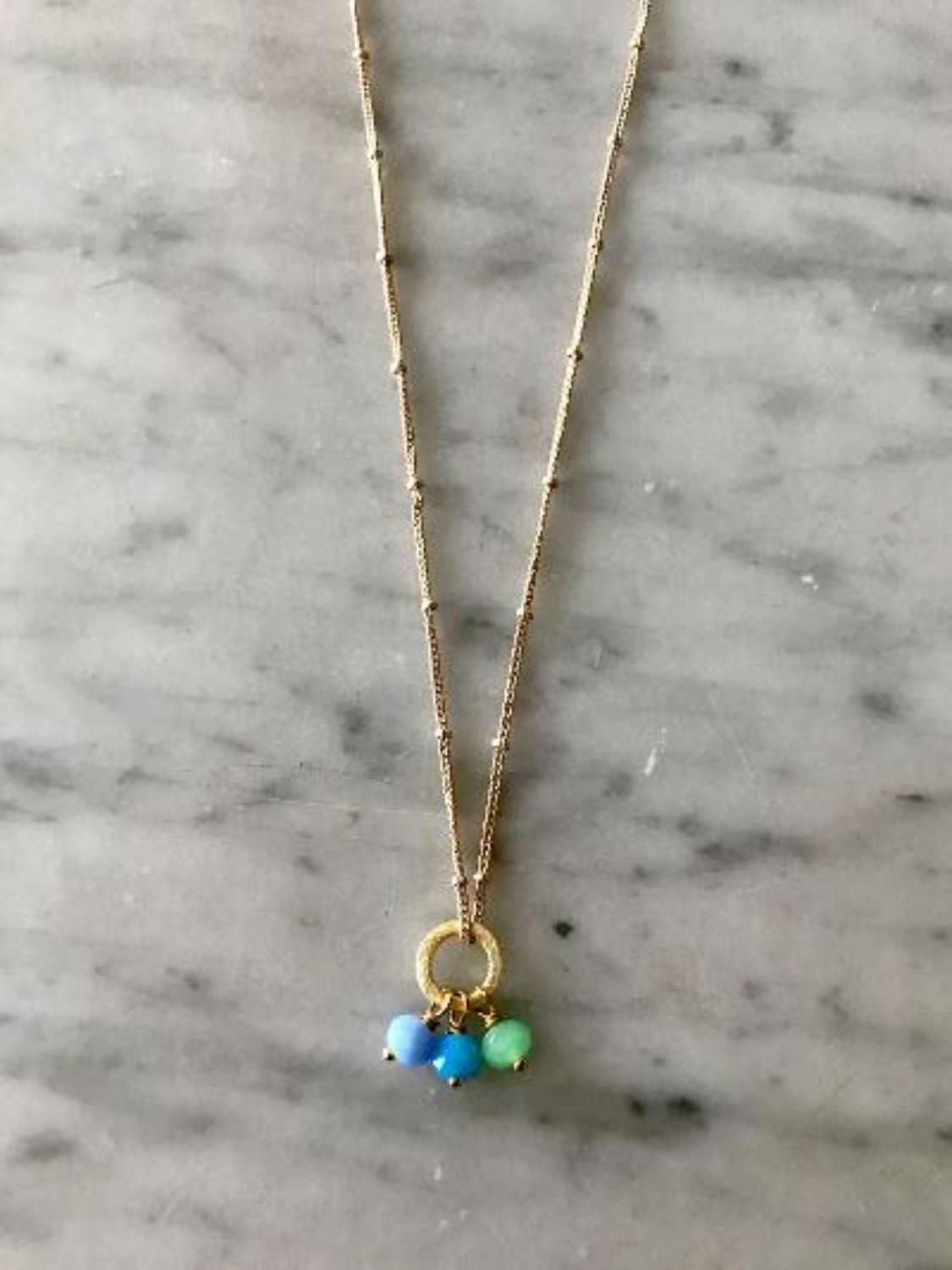Amy necklace - blue/green