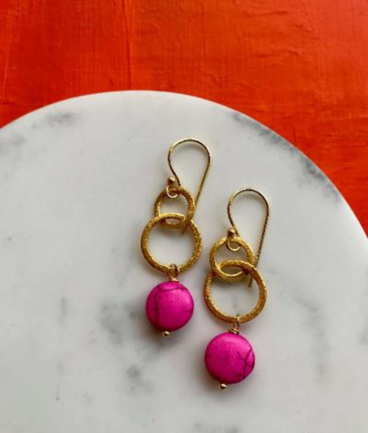 Gina earrings - candy pink