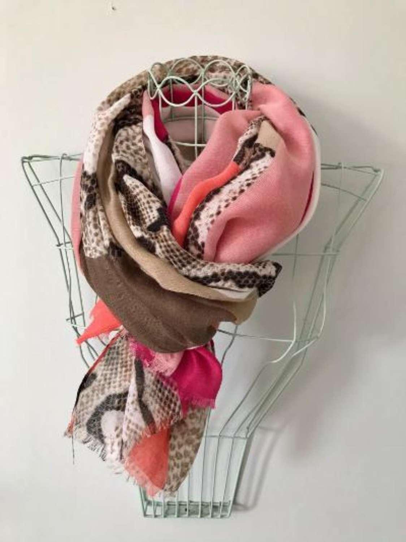 Pinks and animal print  scarf
