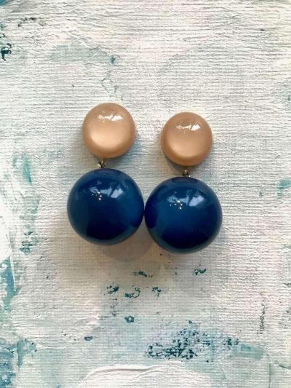 Resin bobble earrings