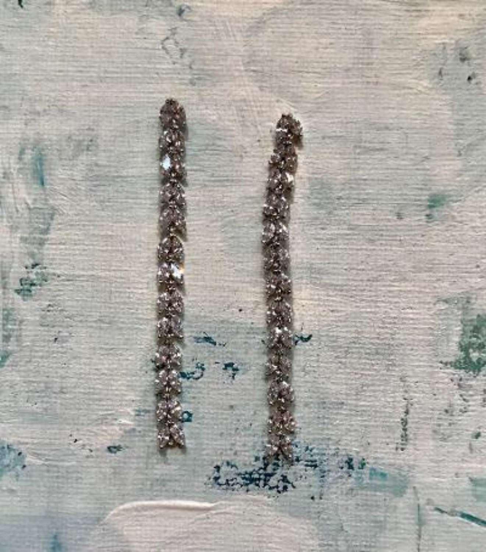 Elegant diamonte crystal earrings