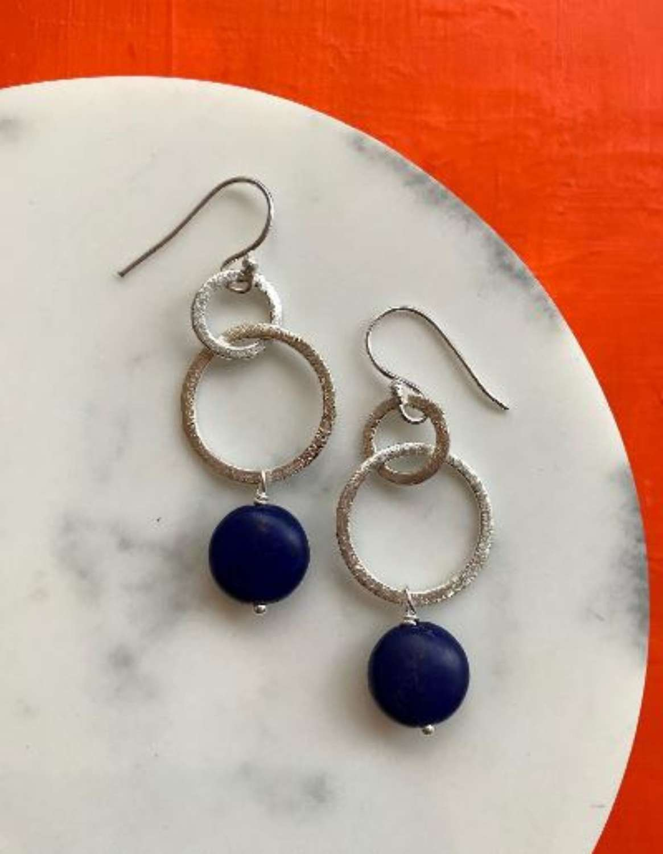 Gina earrings - navy