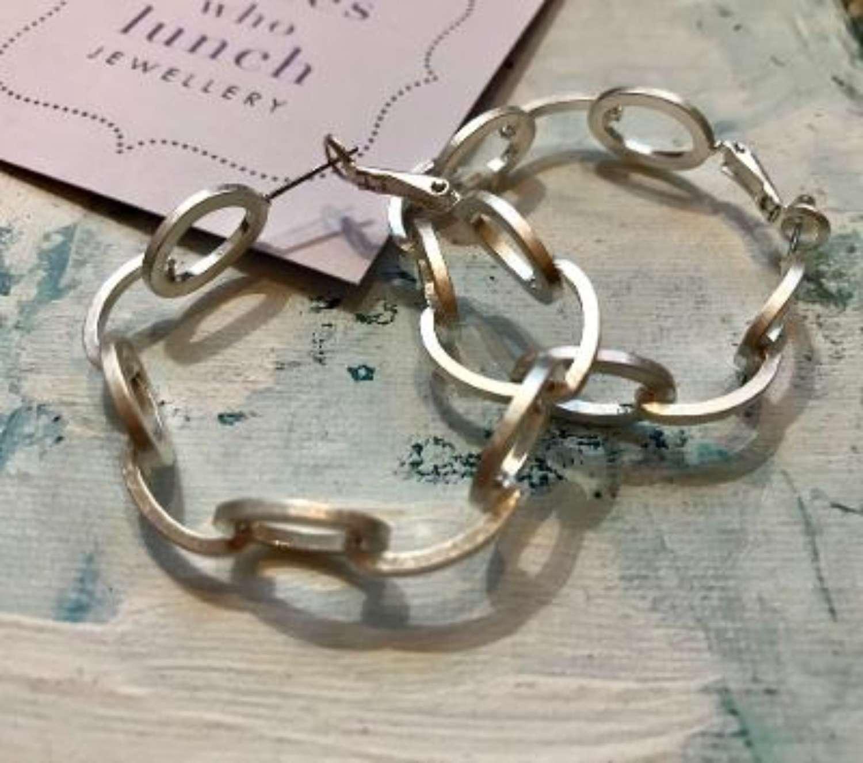 Chain link earrings - silver