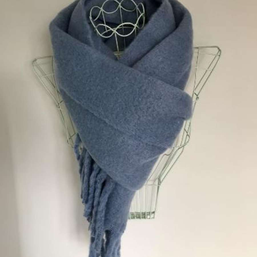 Winter blue scarf