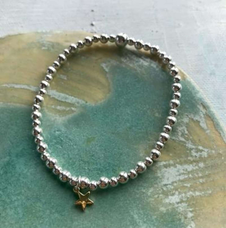 Rose gold star bracelet