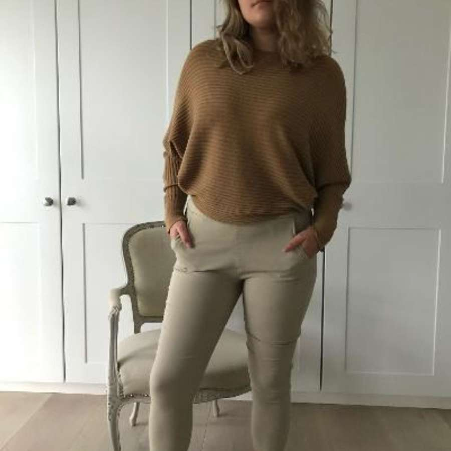 Stretch beige trousers