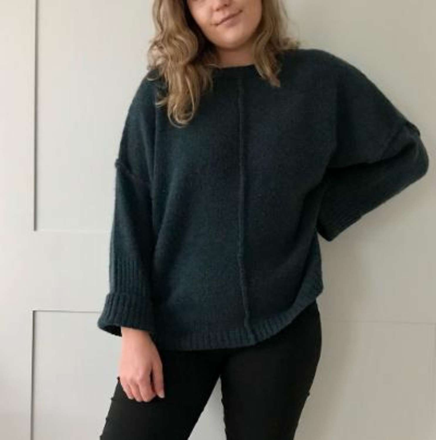 Chunky knit jumper - teal