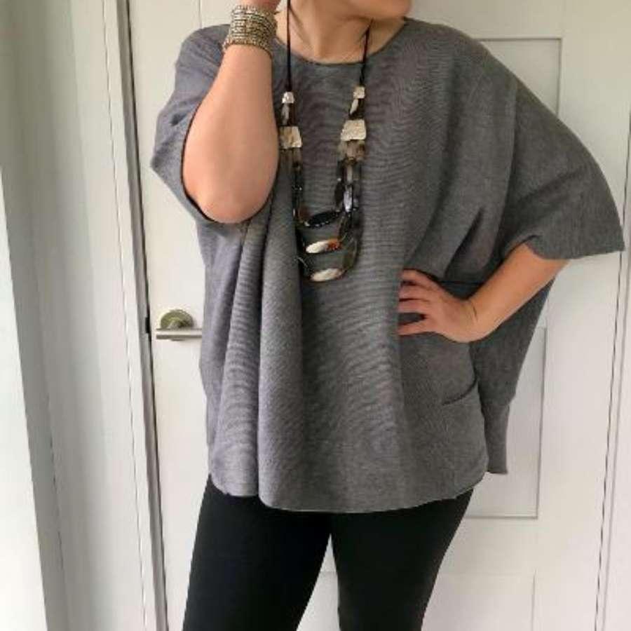 Grey tunic jumper