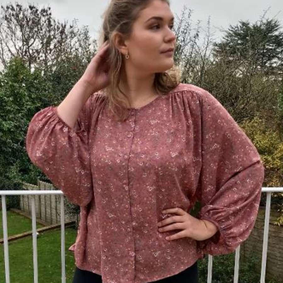 Pink ditsy shirt