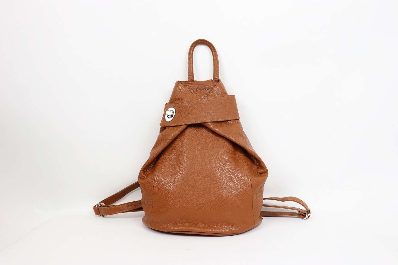 Italian leather rucksack - tan