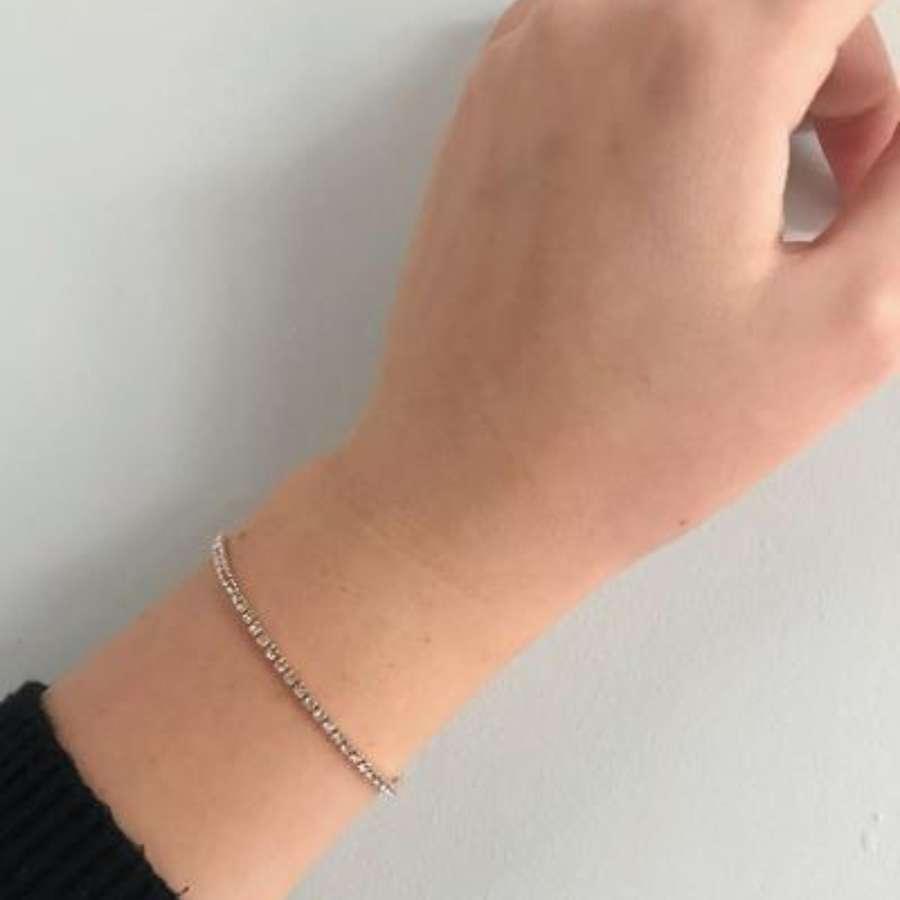Dainty diamonte bracelet - silver