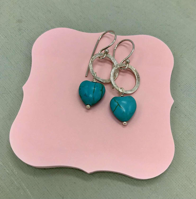 Lydia turquoise heart earrings