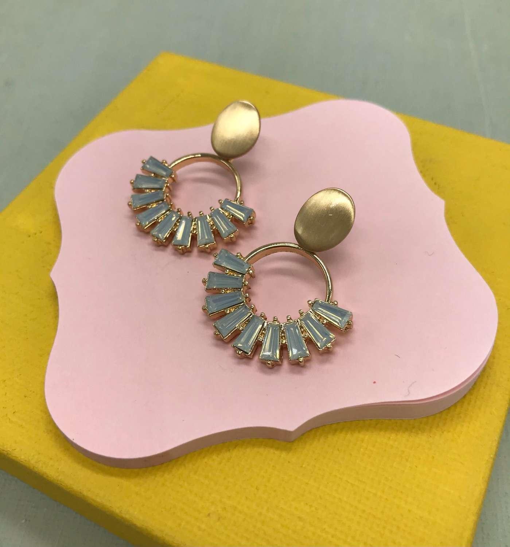 Kamala earrings -  opal crystal