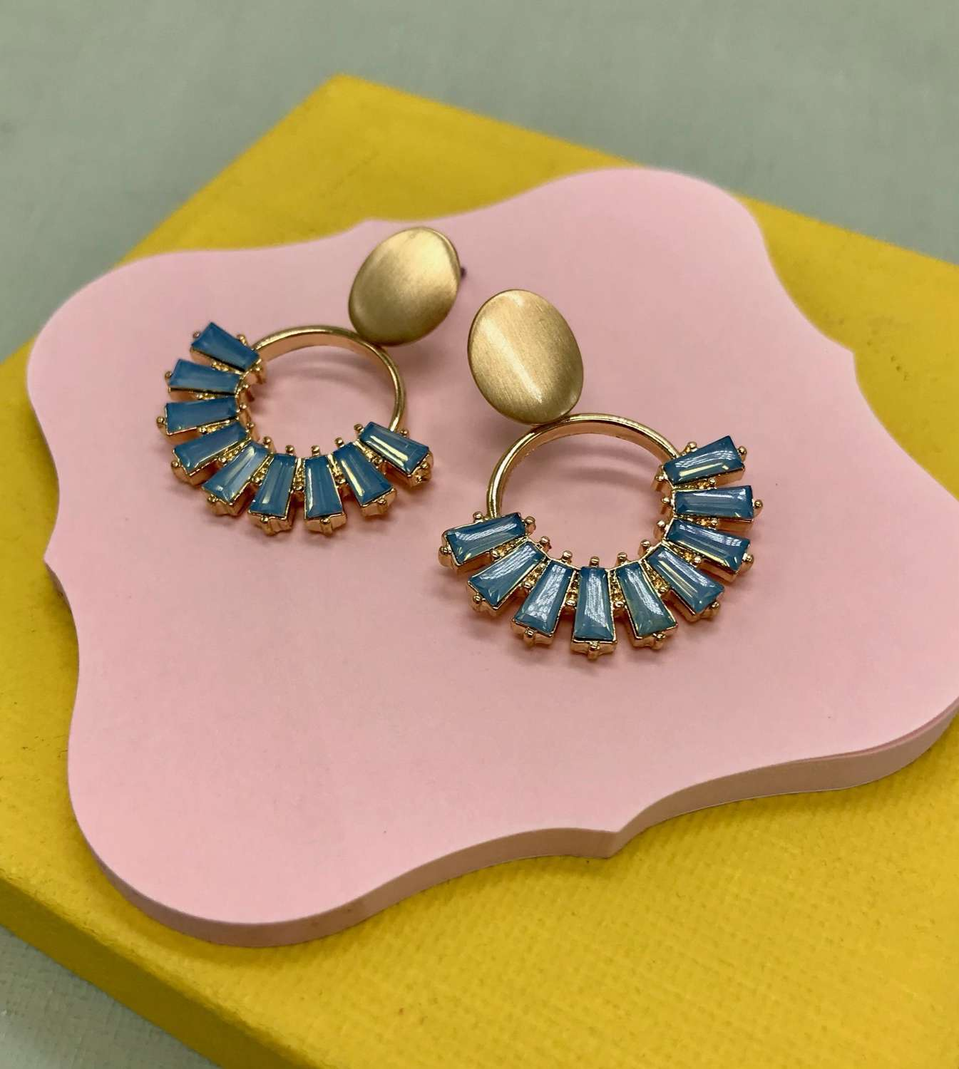 Kamala earrings - blue opal