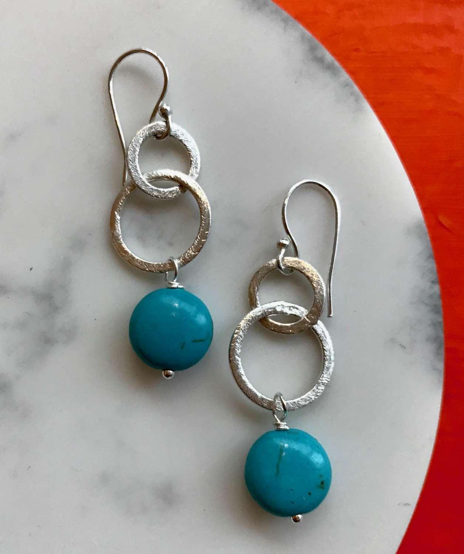 Gina earrings - turquoise