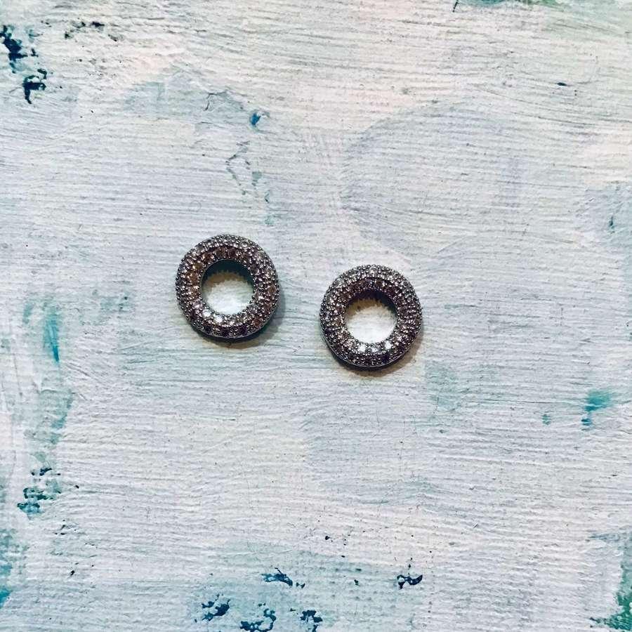 Diamonte polo earrings