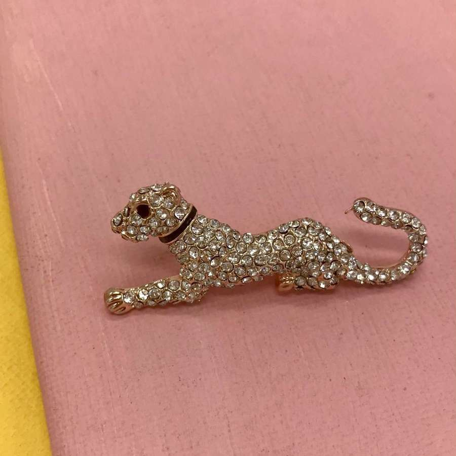 Cheetah brooch