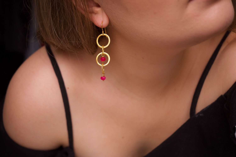 Gina earrings - fuchsia