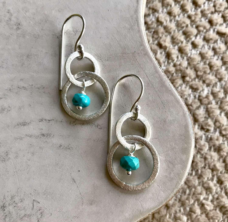 Lesley earrings - turquoise/silver