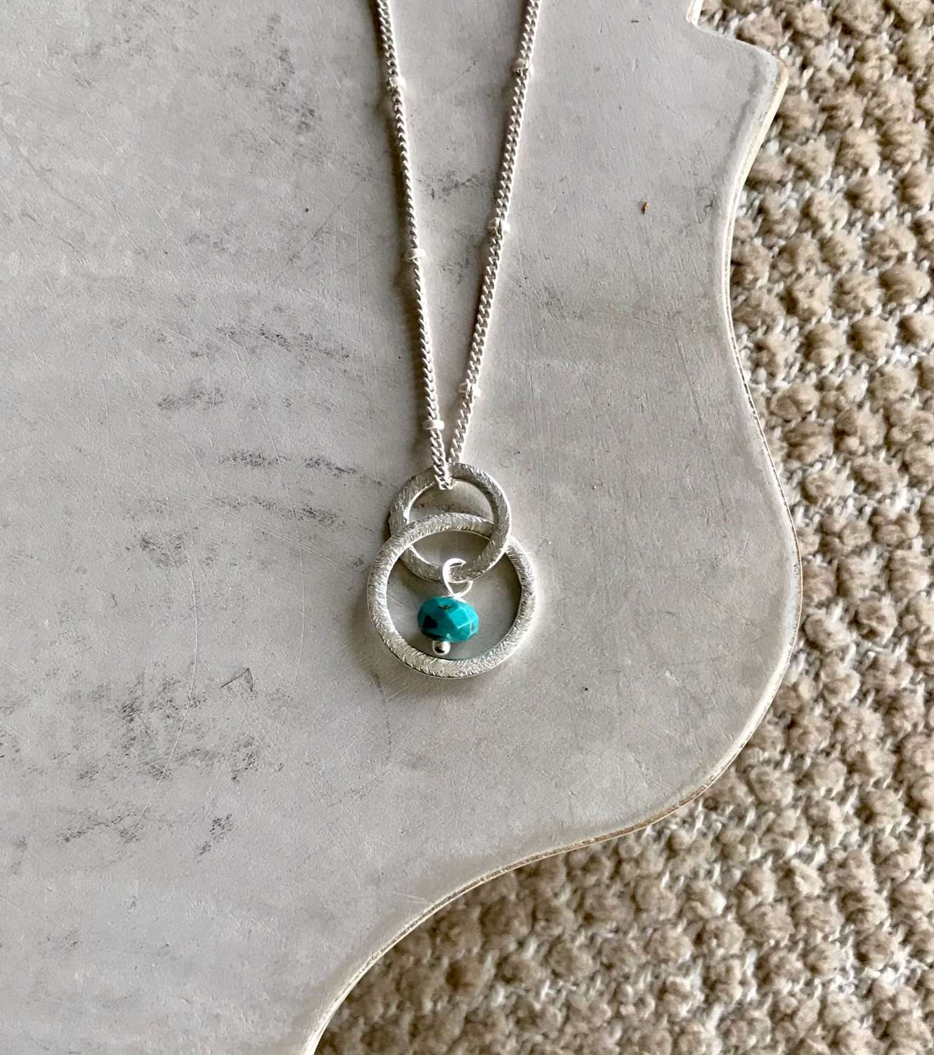Lesley necklace - turquoise/silver