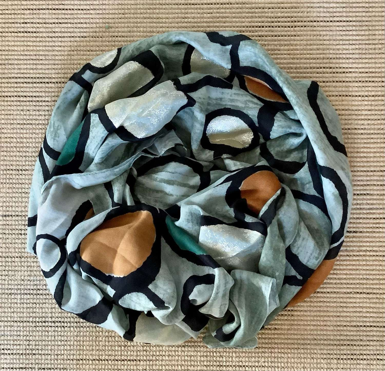 Arty scarf - duck egg