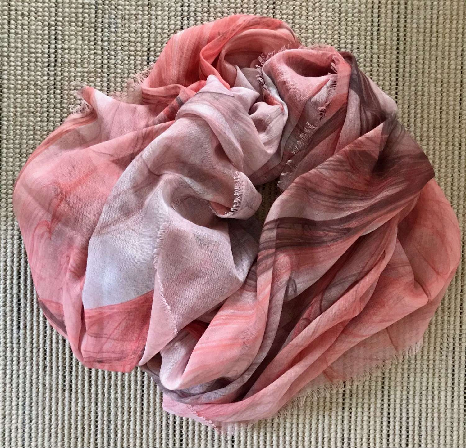 Rusty coral scarf
