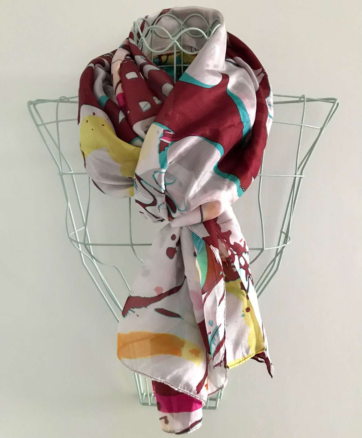 Silk scarf - abstract florals