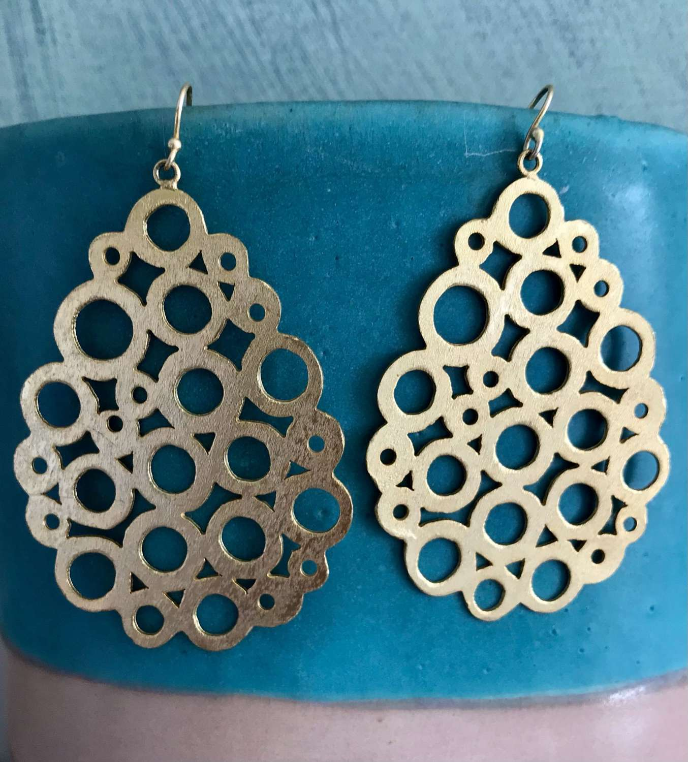 Circles on circles earrings