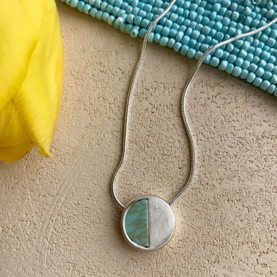 Small demi necklace - turquoise/silver